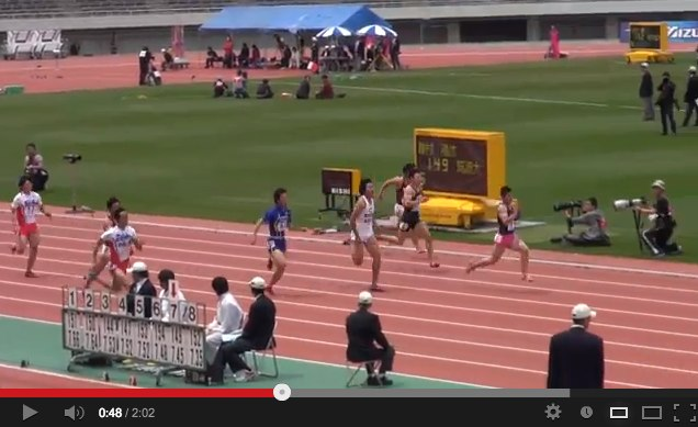 47th M.ODA MEN100M Yoshihide Kiryu 10.01(+0.9) 2013_4_29 - YouTube-1