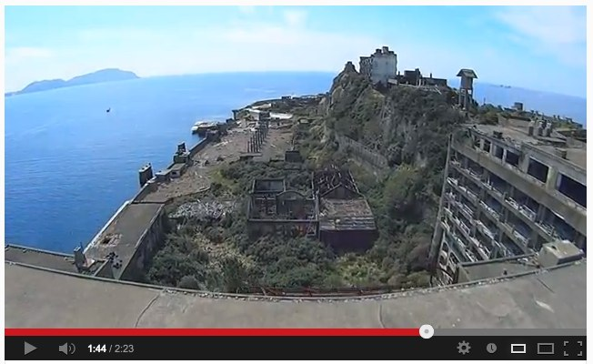 Sony_s Action Cam on RC Helicopter filming 軍艦島 (Gunkanjima _ battleship island) - YouTube