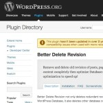 WordPress › Better Delete Revision « WordPress Plugins