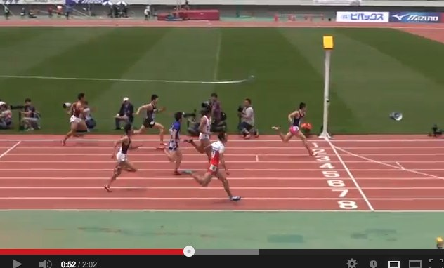 47th M.ODA MEN100M Yoshihide Kiryu 10.01(+0.9) 2013_4_29 - YouTube-2